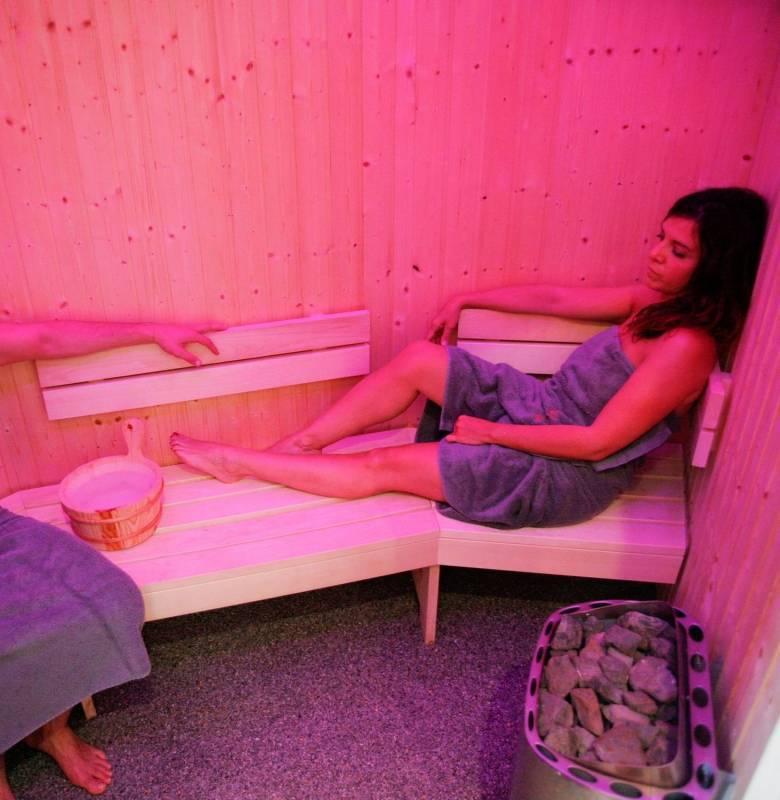 Espace détente avec sauna
