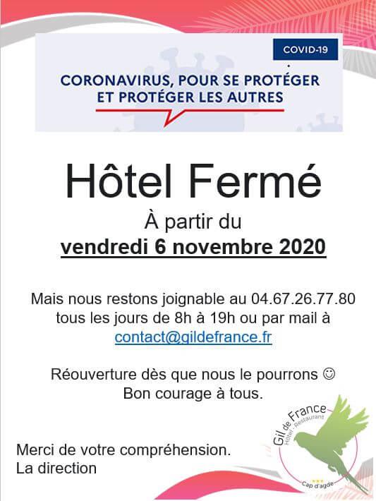 Confinement de Novembre au Cap d'Agde
